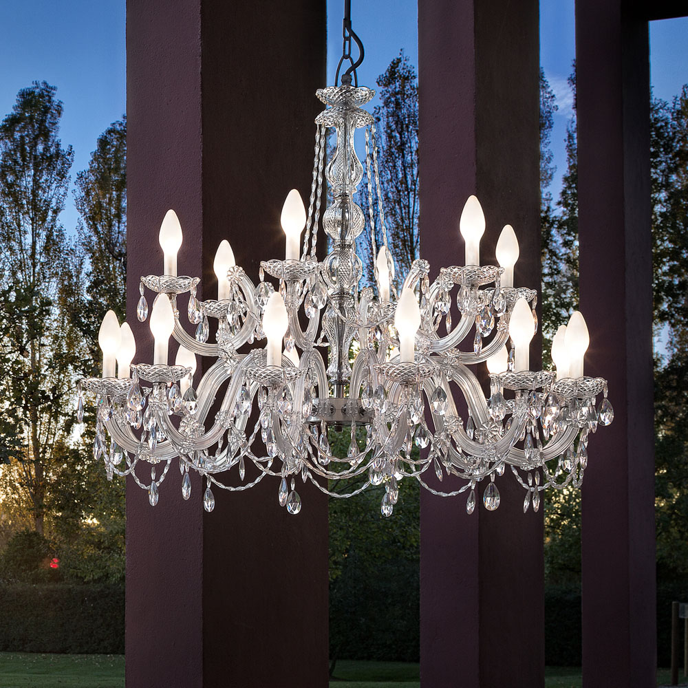 Large Outdoor Cut Crystal Chandelier Juliettes Interiors